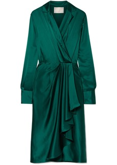 Jason Wu Wrap-effect Silk-charmeuse Dress