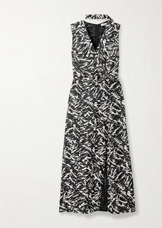 Jason Wu Zebra-print Silk-twill Midi Dress