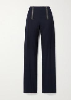 Jason Wu Zip-embellished Twill Straight-leg Pants