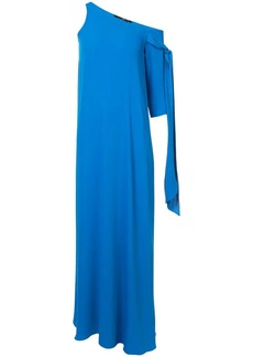 Jay Godfrey asymmetric tie sleeve gown