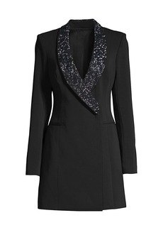 Jay Godfrey Austin Embellished-Lapel Blazer Dress