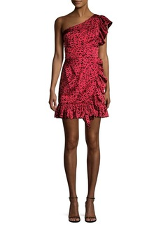 Jay Godfrey Bolt One-Shoulder Ruffle Minidress