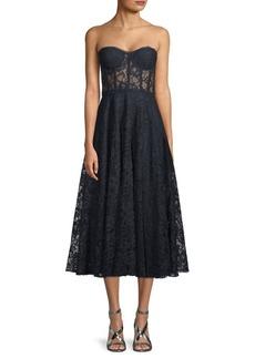 Jay Godfrey Burnaby Strapless Lace Dress