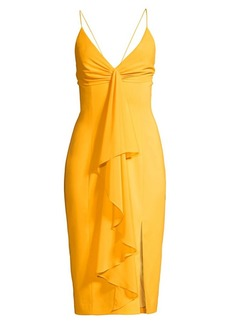 Jay Godfrey Carlo Draped Midi Dress