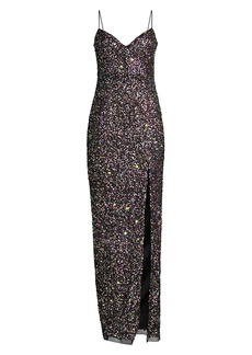 Jay Godfrey Confetti Sequin Gown