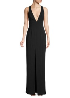 Jay Godfrey Crisscross V-Neck Gown