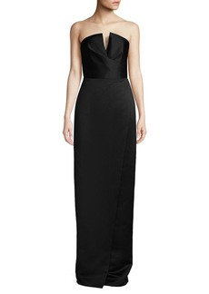 Jay Godfrey Darcy Strapless Satin Gown