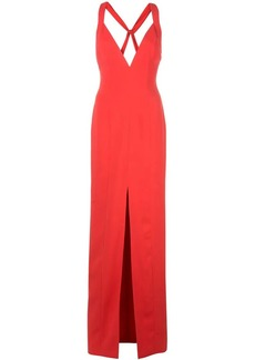 Jay Godfrey deep V-neck gown