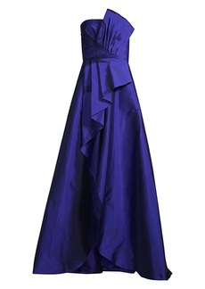 Jay Godfrey Drape Pleated Evening Gown