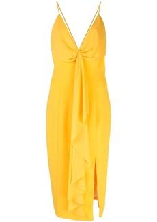 Jay Godfrey draped front slit dress