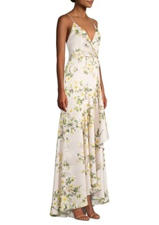 Jay Godfrey Edna Floral Ruffled Slip Gown
