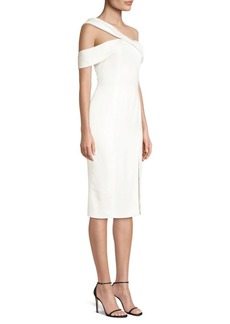 Jay Godfrey Finch One-Shoulder Cocktail Dress