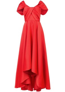 Jay Godfrey gathered front evening gown