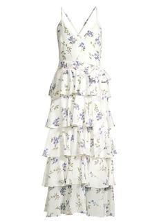 Jay Godfrey Hader Tiered Midi Dress