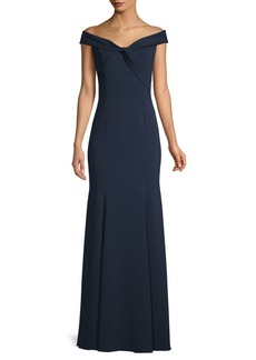 Jay Godfrey Hamilton Off-the-Shoulder Trumpet Gown