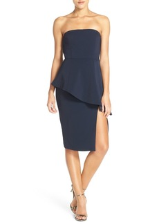 Jay Godfrey 'Angie' Peplum Stretch Sheath Dress