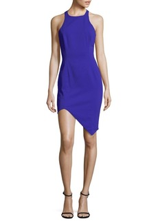 Asymmetric Sleeveless Sheath Dress