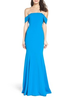 Jay Godfrey Biles Off the Shoulder Gown