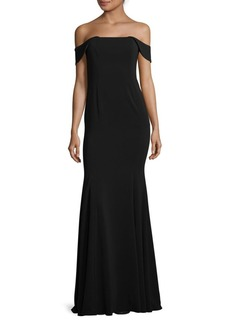 Jay Godfrey Bolt Stretch Off-The-Shoulder Gown