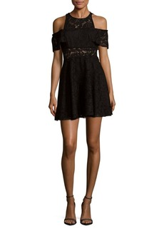 Jay Godfrey Cold Shoulder Lace Dress