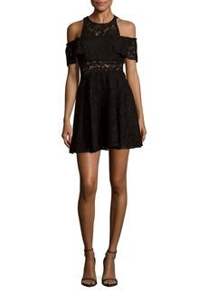 Jay Godfrey Cold Shoulder Lace Dress