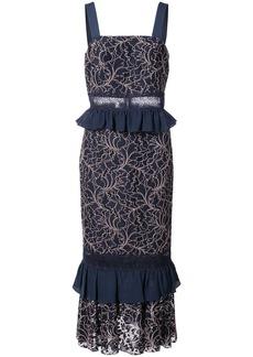 Jay Godfrey Essensa lace midi dress - Blue