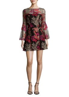 Jay Godfrey Floral Bell Sleeves Dress