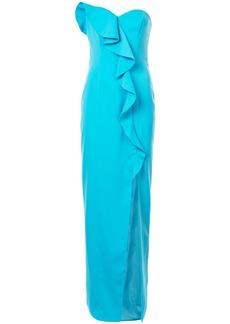 Jay Godfrey front frill dress - Blue