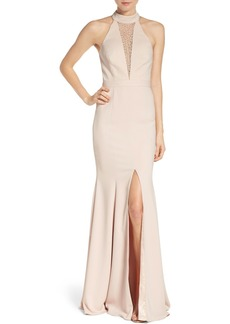 Jay Godfrey Halter Mermaid Gown
