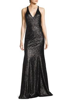 Jay Godfrey Halterneck Floor-Length Gown