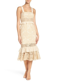 Jay Godfrey Iginla Lace Midi Dress