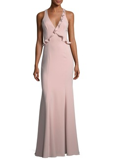 Jay Godfrey Joseph Asymmetric Sleeveless Ruffle Dress