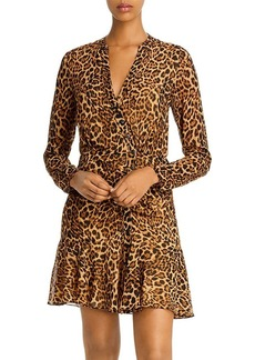 Jay Godfrey Kirk Leopard Print Mini Dress