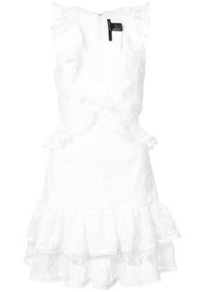 Jay Godfrey lace flared dress - White