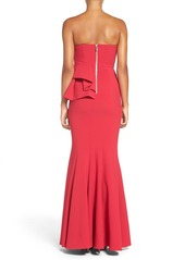 Jay Godfrey 'Lima' Strapless Peplum Gown
