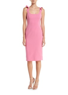 Jay Godfrey Marois Ruffle-Strap Sleeveless Cocktail Dress
