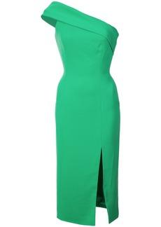 Jay Godfrey one-shoulder slit dress - Green
