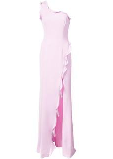 Jay Godfrey one shoulder waterfall dress - Pink & Purple