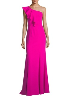Jay Godfrey Osgood Ruffle One-Shoulder Gown