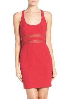 Jay Godfrey Perot Mesh Waist Body-Con Dress