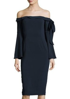 Jay Godfrey Phoenix Off-the-Shoulder Dress
