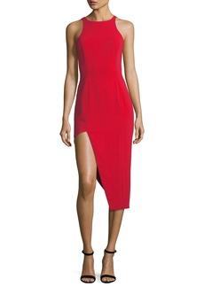 Jay Godfrey Pine V-Back Asymmetric Skirt Dress