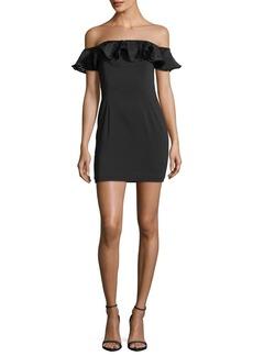 Jay Godfrey Rosebery Off-the-Shoulder Ruffled Mini Dress