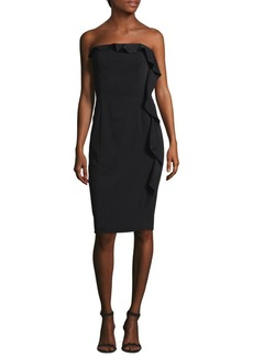 Jay Godfrey Ruffle-Trimmed Knee-Length Dress