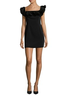 Jay Godfrey Ruffled Squareneck Mini Dress