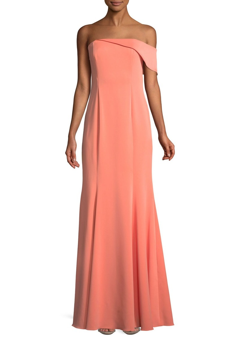 Jay Godfrey Seaworth Off-the-Shoulder Crepe Gown