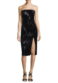 Jay Godfrey Sequin Off-The-Shoulder Knee-Length Dress
