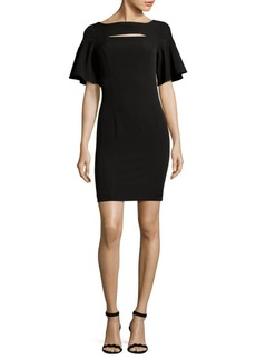 Jay Godfrey Short Flutter Sleeve Mini Dress
