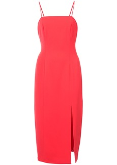 Jay Godfrey side slit fitted dress - Red