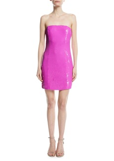Jay Godfrey Strapless Sequined Mini Cocktail Dress